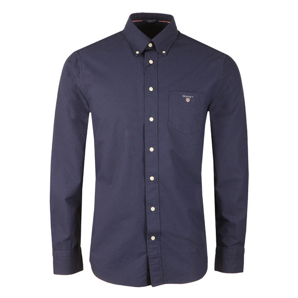 Gant Mens Blue The Printed Oxford Dot LS Shirt main image