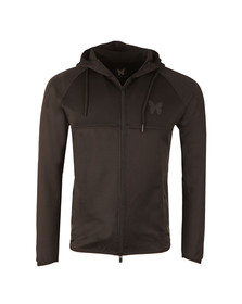 Good For Nothing Mens Black Scuba Poly Full  Zip Hoody