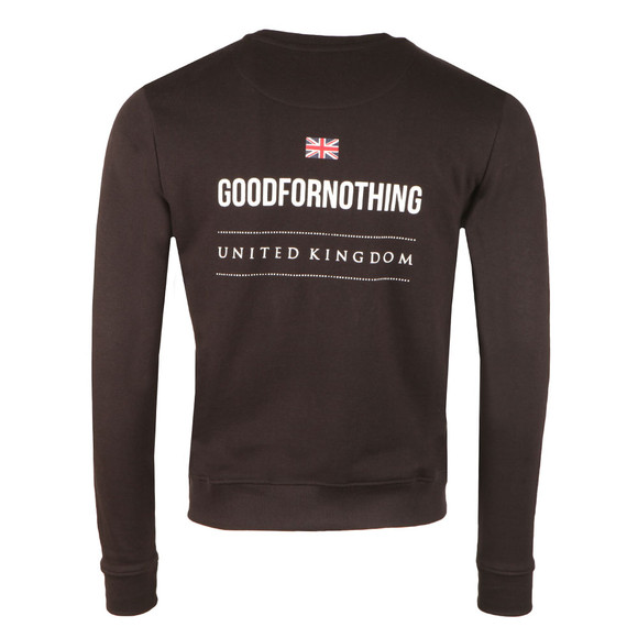 Good For Nothing Mens Black Logo Sweatshirt main image