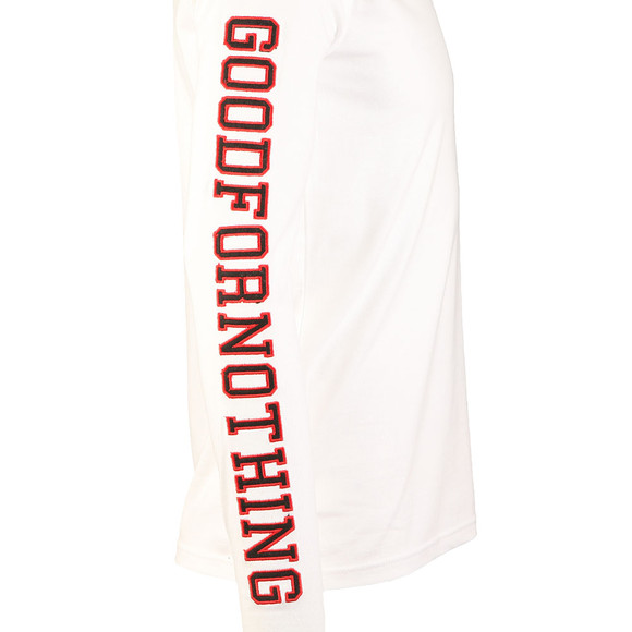 Good For Nothing Mens White Side Arm Long Sleeve Tee main image