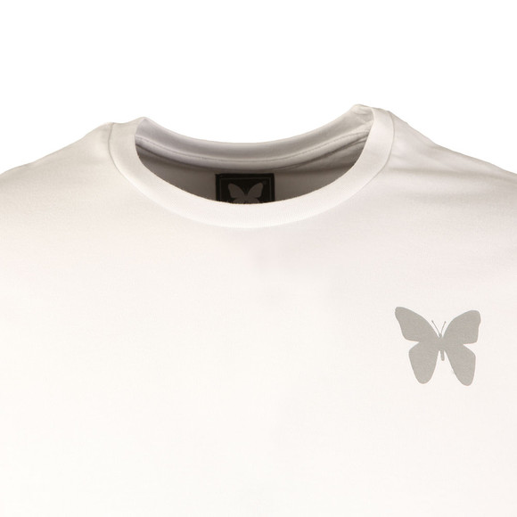 Good For Nothing Mens White Reflective Logo Tee main image