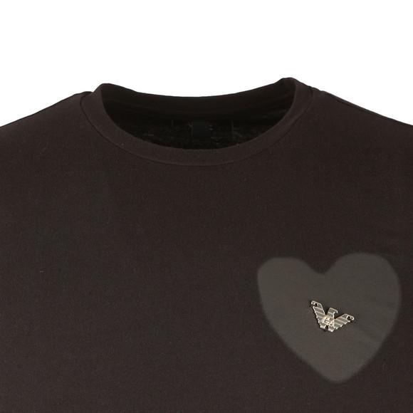 Armani Jeans Mens Black Metal  Logo T Shirt main image