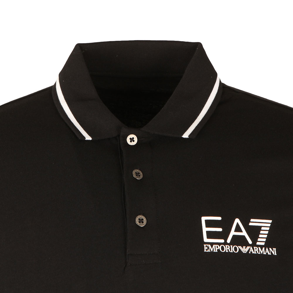 Tipped Long Sleeve Polo Shirt main image