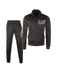 EA7 Emporio Armani Mens Blue Striped Logo Full Zip Tracksuit