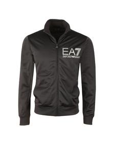 EA7 Emporio Armani Mens Blue Striped Logo Full Zip Track Top