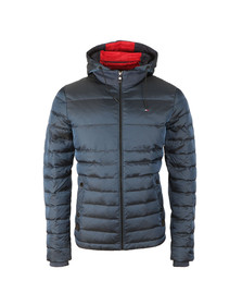 Tommy Hilfiger Mens Blue Chad Down Hooded Bomber