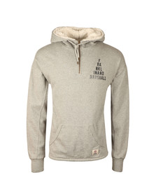 Franklin & Marshall Mens Grey Hooded Fleecel Half Zip