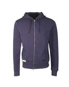 Franklin & Marshall Mens Blue Full Zip Fleece Hooded Sweat
