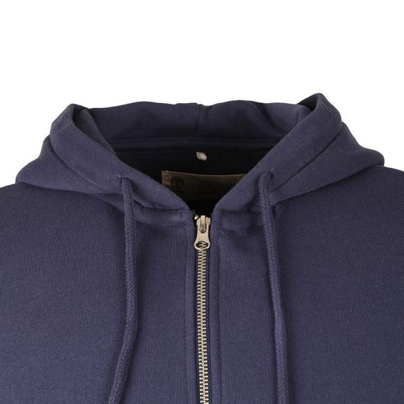 Franklin & Marshall Mens Blue Full Zip Fleece Hooded Sweat main image