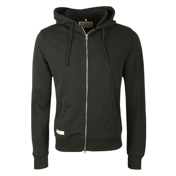 Franklin & Marshall Mens Black Full Zip Fleece Hooded Sweat main image