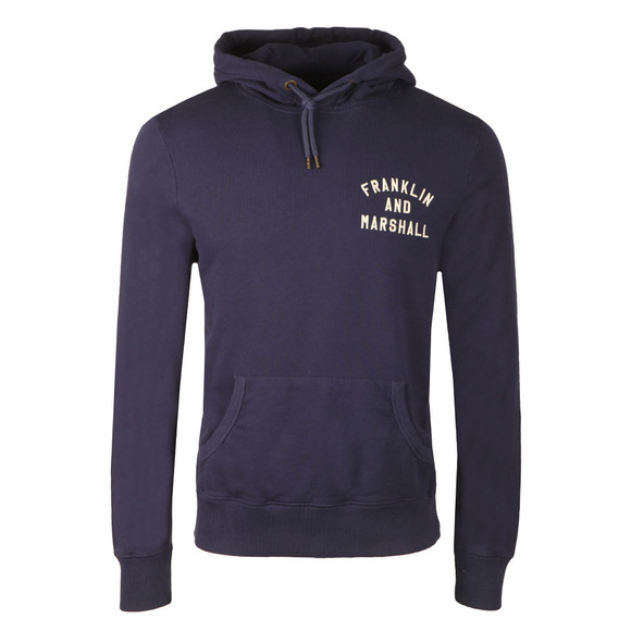 Franklin & Marshall Mens Blue Hooded Sweat main image