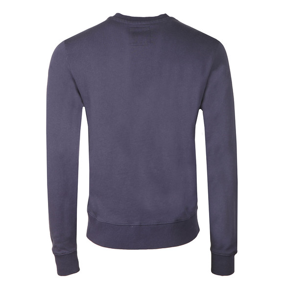 Franklin & Marshall Mens Blue Small Printed Logo Crew Sweat main image