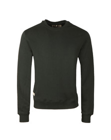 Franklin & Marshall Mens Black Round Neck Sweat