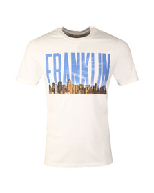 Franklin & Marshall Mens White S/S Large Logo Tee