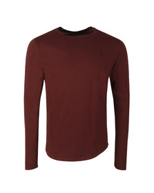 Religion Mens Red Plain Longline L/S T-Shirt