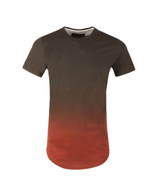 Religion Mens Black Gradient Stripes T-Shirt