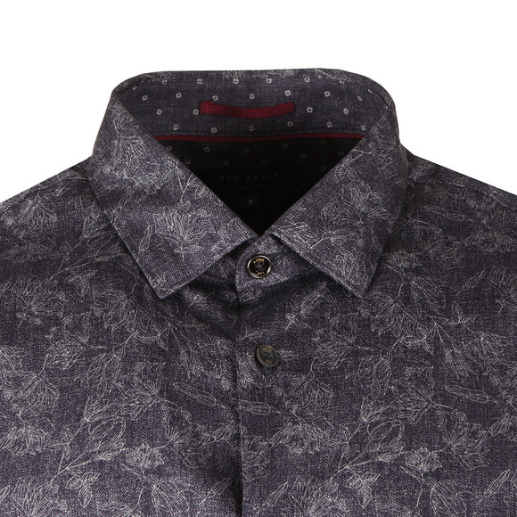 Ted Baker Mens Blue LS Double Sided Printed Shirt main image