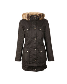 Barbour Lifestyle Womens Blue Carribena Wax Parka