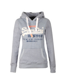 Superdry Womens Blue Premium Goods Tri Hoodie