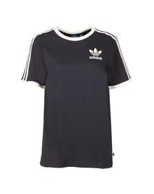 Adidas Originals Womens Blue 3 Stripes Tee
