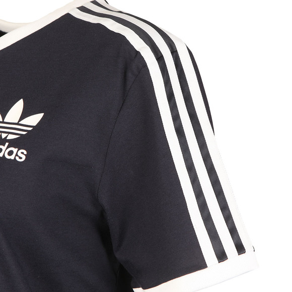 adidas Originals Womens Blue 3 Stripes Tee main image