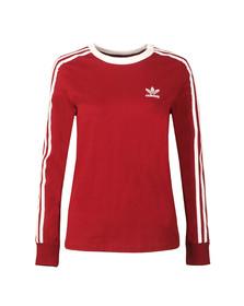 Adidas Originals Womens Red 3 Stripes LS Tee