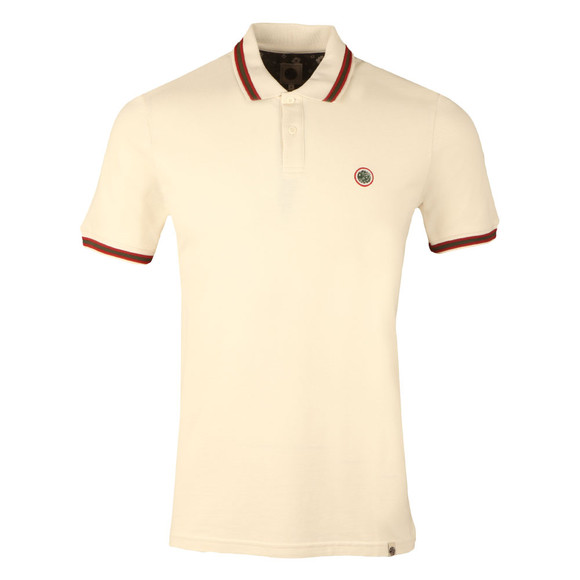 Pretty Green Mens Beige S/S Tipped Polo main image
