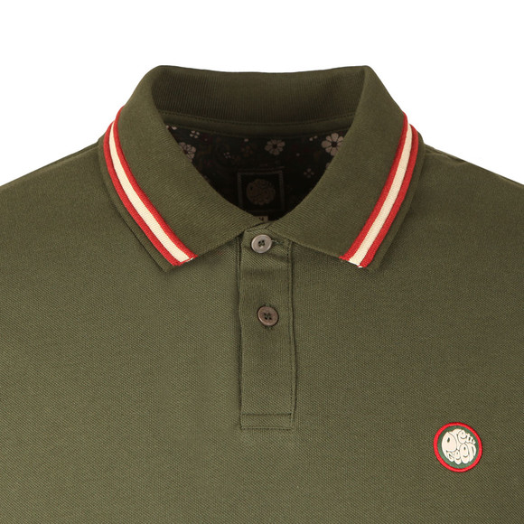 Pretty Green Mens Green S/S Tipped Polo main image