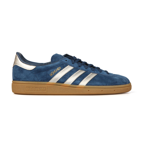 Adidas Originals Mens Blue Munchen Trainer main image