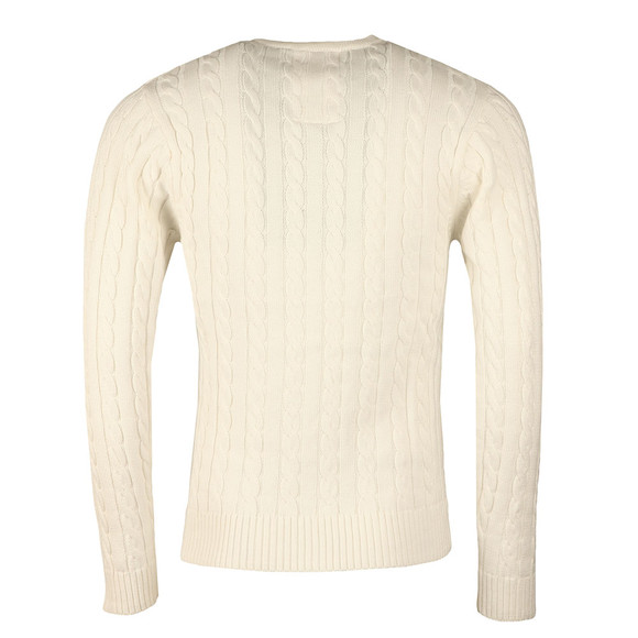 Luke Mens Off-White Hortons LS Cable Crew Jumper main image