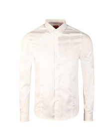 Luke Mens White Butchers Pencil 2 LS Shirt