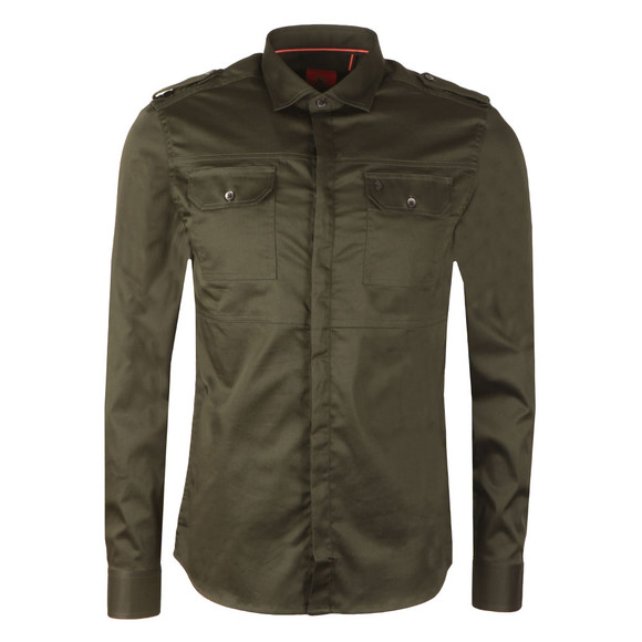 Luke Mens Green Serges LS Shirt main image