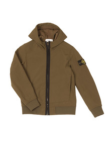 Stone Island Junior  Boys Green Soft Shell Jacket