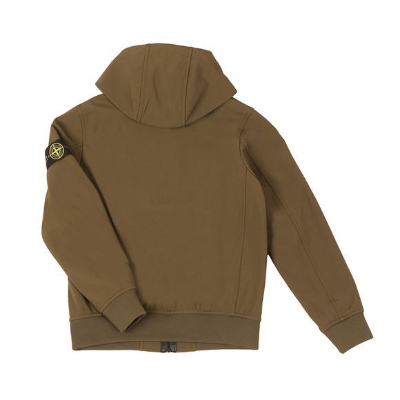 Stone Island Junior  Boys Green Soft Shell Jacket main image