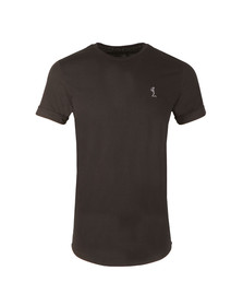 Religion Mens Black Plain Curve Hem T Shirt