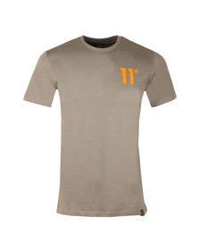 Eleven Degrees Mens Grey Contrast Logo T Shirt