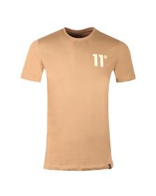 Eleven Degrees Mens Brown Contrast Logo T Shirt