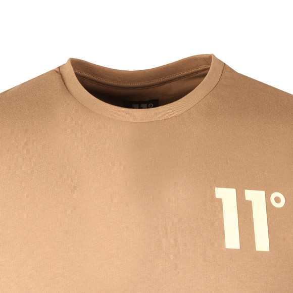 Eleven Degrees Mens Brown Contrast Logo T Shirt main image