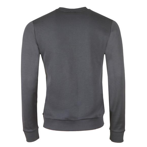 BOSS Athleisure Mens Blue Salbo Embossed Logo Sweatshirt main image