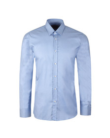 Hugo Mens Blue Elisha Slim Zig Zag Pattern Shirt
