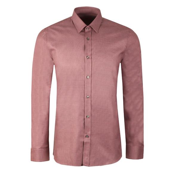 HUGO Mens Purple Elisha Slim Zig Zag Pattern Shirt