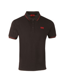 Hugo Mens Black Daruso Polo Shirt