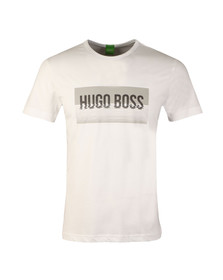 Boss Green Mens White Tee 1 Large Logo T Shirt