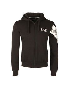 EA7 Emporio Armani Mens Black Small Logo Full Zip Hoody