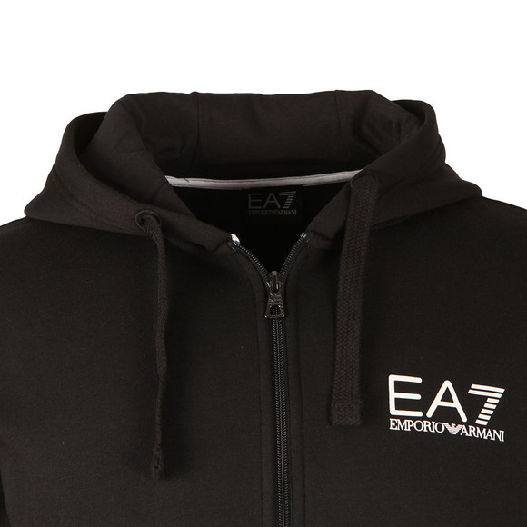 EA7 Emporio Armani Mens Black Small Logo Full Zip Hoody main image