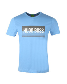 Boss Green Mens Blue Tee 1 Large Logo T Shirt