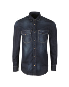 Diesel Mens Blue D-Rooke Denim Shirt