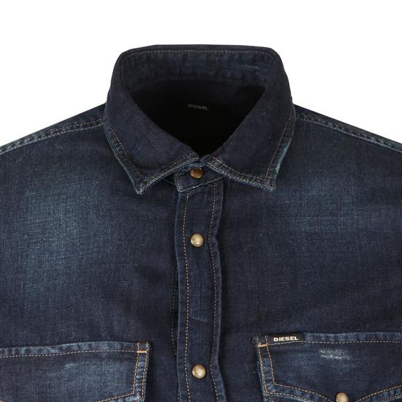 Diesel Mens Blue D-Rooke Denim Shirt main image