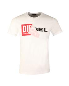 Diesel Mens White Diego QA T-Shirt