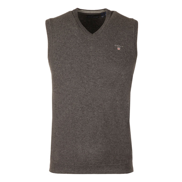 Gant Mens Grey Super Fine Lambswool Slipover